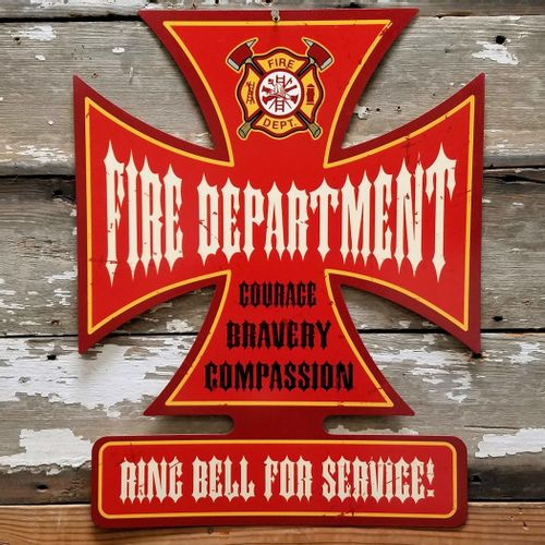 Fire Department Ring Bell For Service Sign