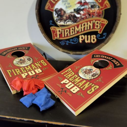 Fireman's Pub Personalized Toss Game