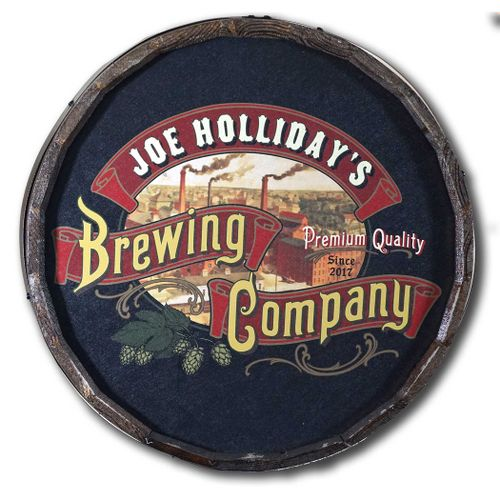 Personalized Brewing Company Quarter Barrel Sign
