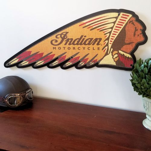 Indian Motorcycle War Bonnet Sign