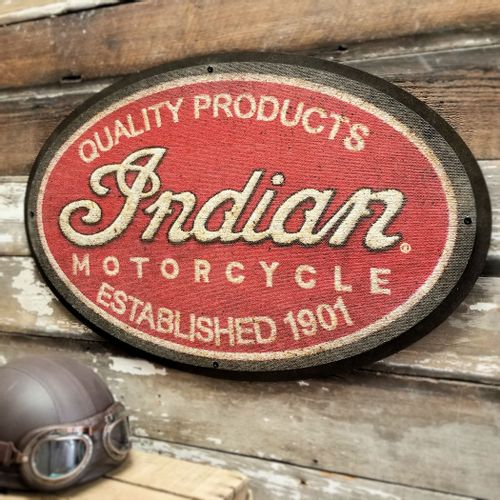 Indian Motorcycle Oval Patch Sign