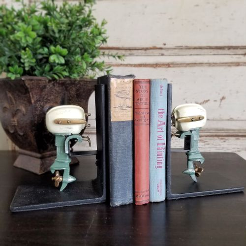 Outboard Motor Bookends Set