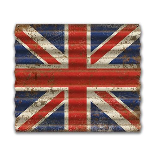 United Kingdom Flag Corrugated Metal Sign