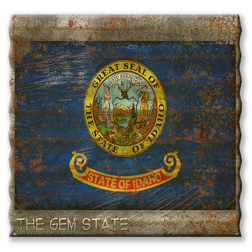 Idaho State Flag Corrugated Metal Sign