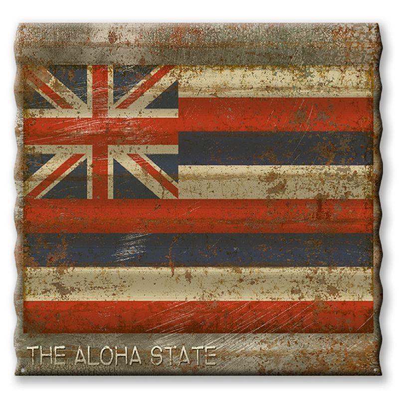 Hawaii-State-Flag-Corrugated-Metal-Sign-13187