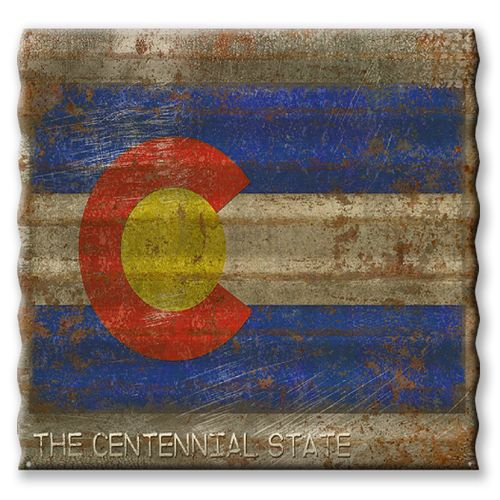 Colorado State Flag Corrugated Metal Sign