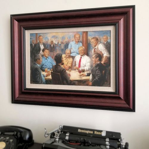The Republican Club Framed Open Edition Canvas
