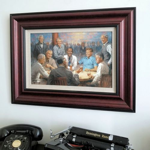 The Democratic Club Framed Open Edition Print