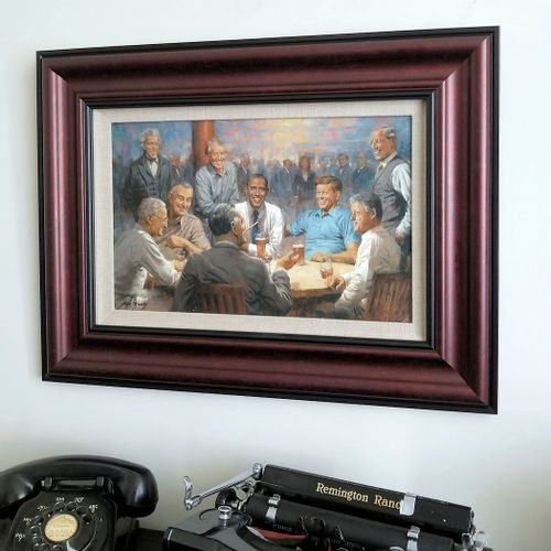 The Democratic Club Framed Open Edition Canvas