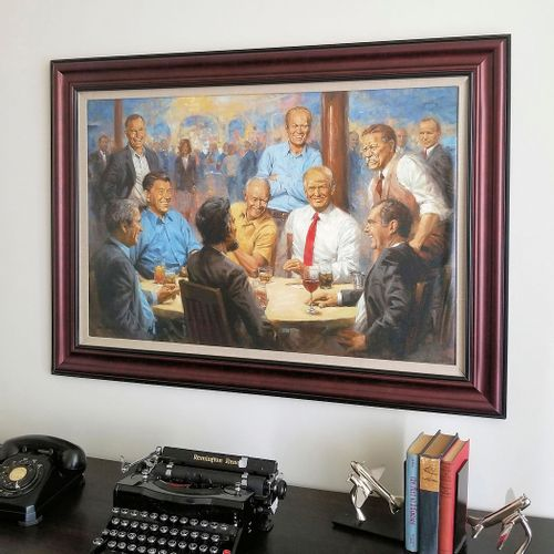 The Republican Club Framed Limited Edition Large Canvas