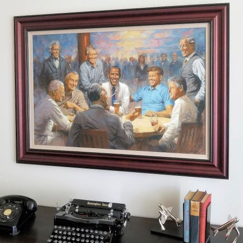 The Democratic Club Framed Limited Edition Large Canvas
