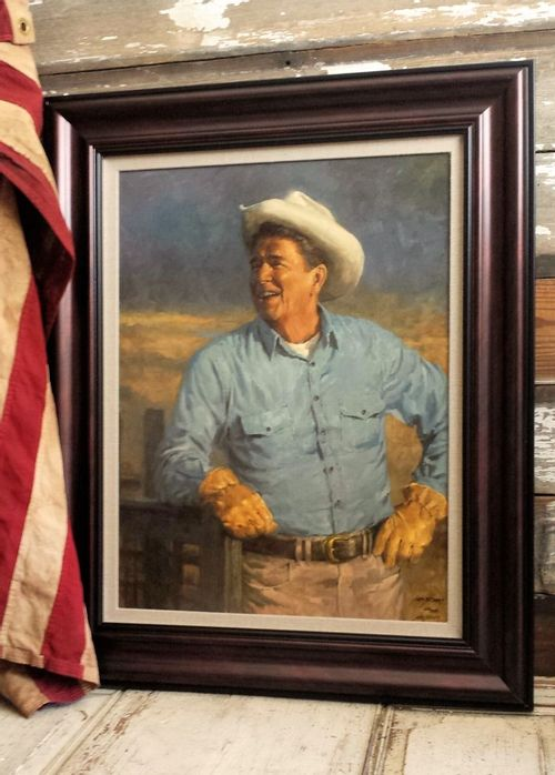 Ronald Reagan Limited Edition Large Framed Giclee