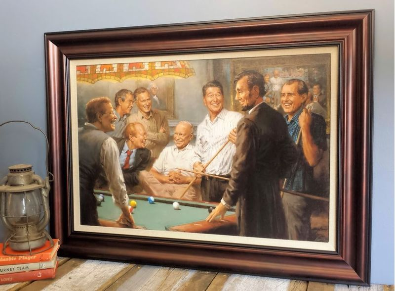 Callin--the-Blue-Large-Framed-Canvas---Limited-Edition-13937