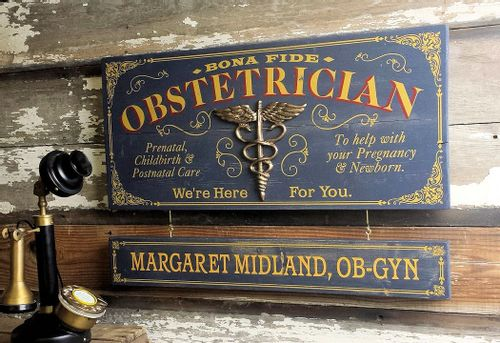 Obstetrician Wood Plank Sign with Optional Personalization