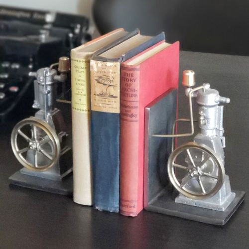 Replica Industrial Engine Bookends