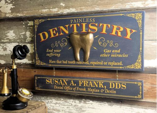Dentistry Wood Plank Sign with Optional Personalization