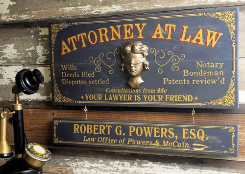 Attorney At Law Wood Plank Sign with Optional Personalization