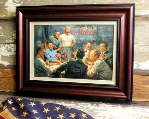 Grand Ol Gang Framed Open Edition Canvas
