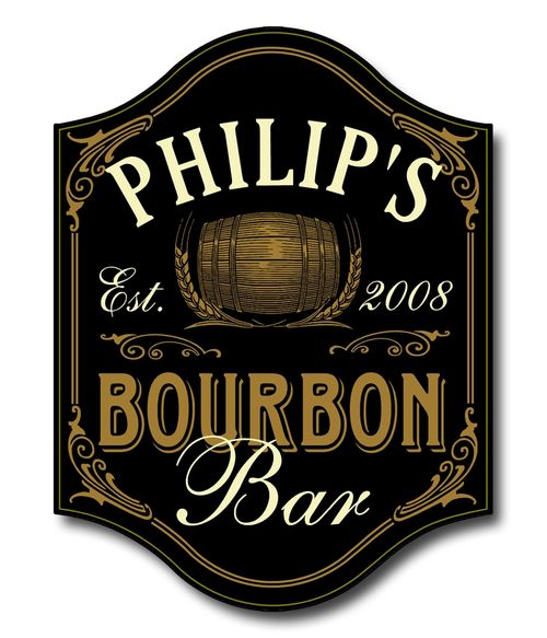 Bourbon Bar Personalized Sign