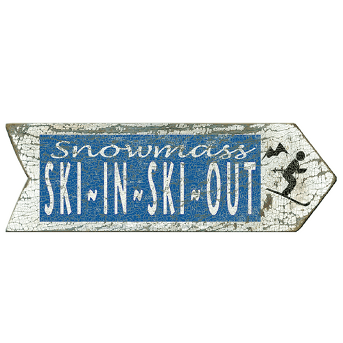 Ski In Personalized Arrow Sign