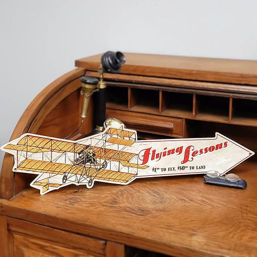 Flying Lessons Arrow Sign