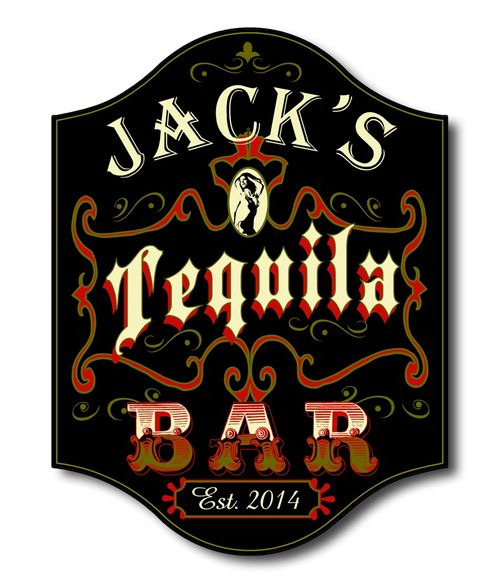 Tequila Bar Personalized Sign