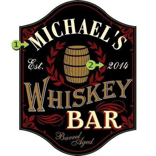 Whiskey Bar Customized Sign
