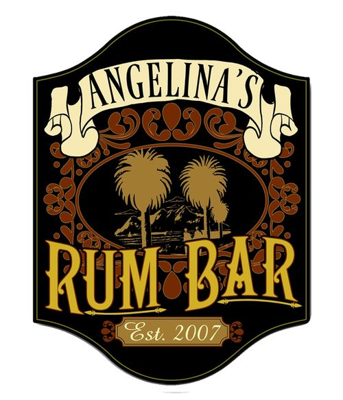 Rum Bar Personalized Sign
