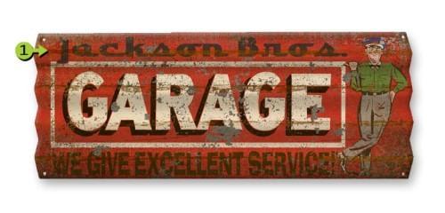 Personalized Garage Corrugated Metal Sign