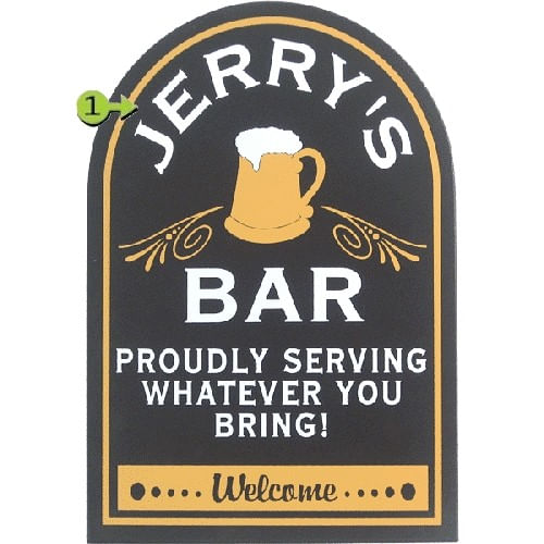 Personalized Bar Proudly Serving You Sign