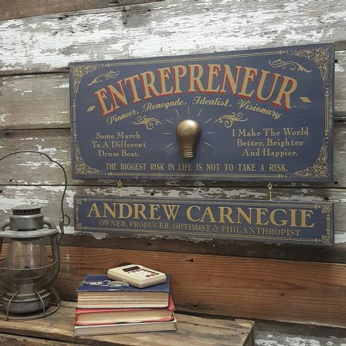 Entrepreneur Wood Sign with Optional Personalization