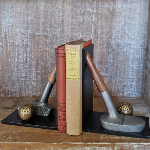 Golf Putter Bookends