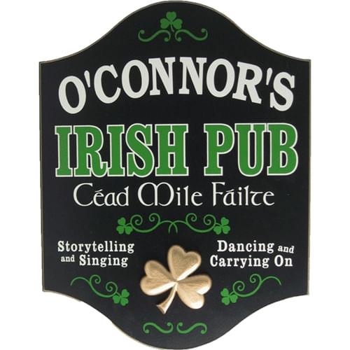 Irish Pub (Cead Mile Failte) Personalized Sign