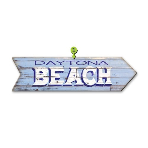 Rustic Personalized Beach Arrow Sign