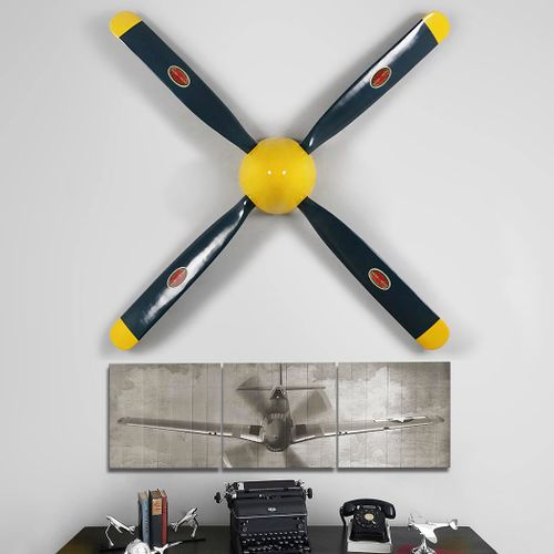 "P-51 Mustang Replica Propeller and 55"" Triptych Set"