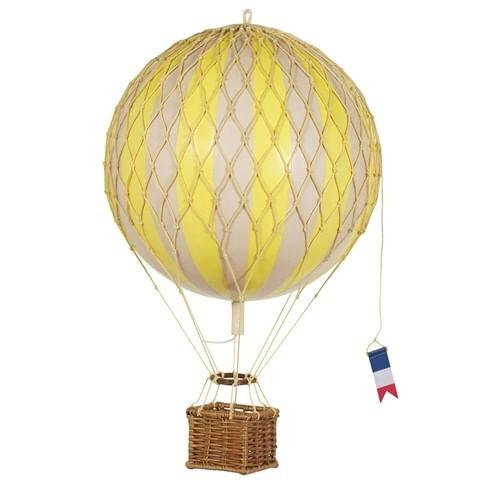 Yellow Striped Hot Air Balloon