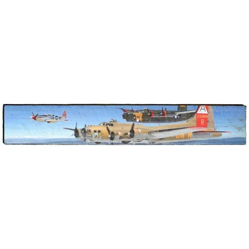 WWII Planes Large Wood Plank Sign