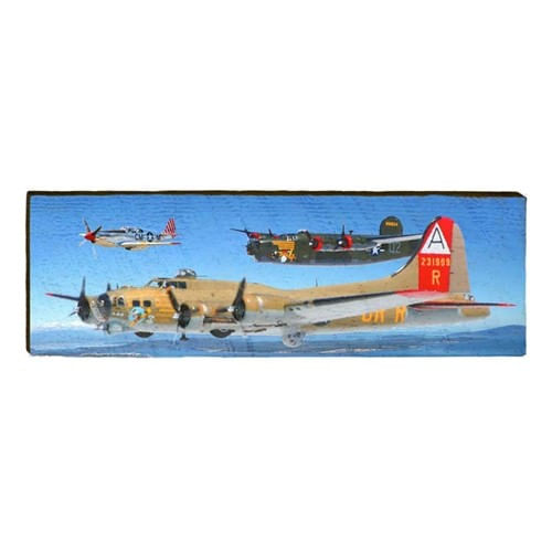 WWII Planes Wood Plank