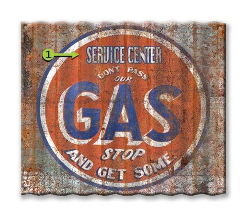 Dont Pass Our Gas Personalized Corrugated Metal Sign