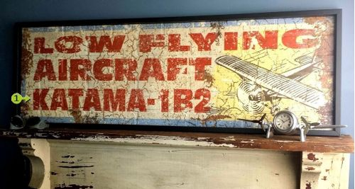 Low Flying Aircraft Personalized Aviation Sign