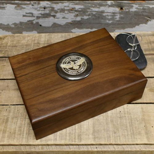 Eagle Scout Keepsake Box With Personalized Medallion