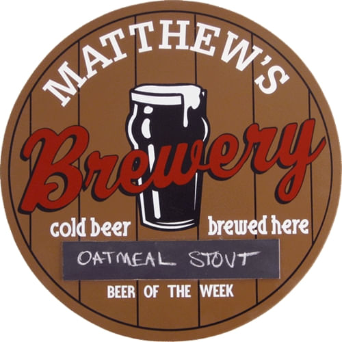 Brewery Personalized Wood Sign