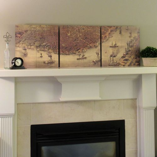 Vintage New Orleans Map Triptych