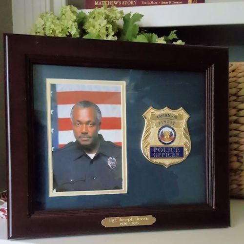 Police Officer Photo Frame