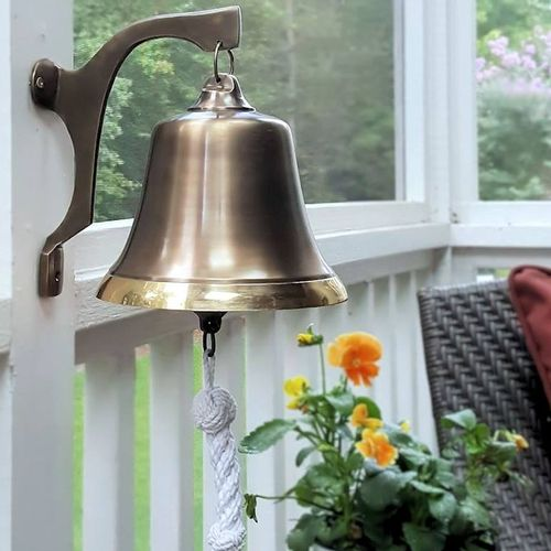 "Antiqued Two-Tone Brass Bell ""Second"""