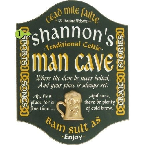 Irish Man Cave Personalized Wood Sign