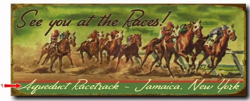 See You at the Races Wood Sign (14 in X 36 in)