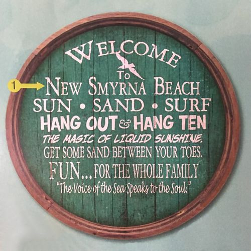 Beach Highlights Welcome Personalized Barrel Sign