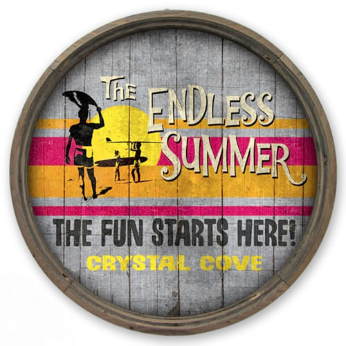 Endless Summer Barrel End Personalized Sign