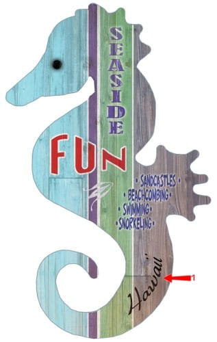 Seahorse Cut Up Personalized Beach House Fun Sign